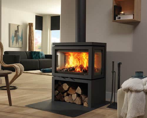 centrale verwarming op hout  cv haard  prijs
