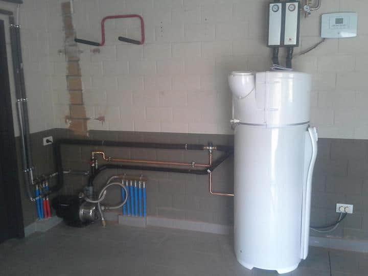 Warmtepompboiler installatie
